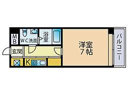 エステートモア博多アペックス[3階]の間取り