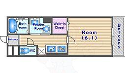 JR東海道・山陽本線 向日町駅 徒歩7分の賃貸アパート 3階1Kの間取り