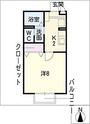メゾンムジュー[2階]の間取り