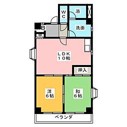 青木屋ビル[5階]の間取り