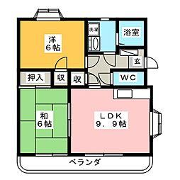サクセス II[2階]の間取り
