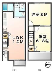 [テラスハウス] 愛知県清須市東須ケ口 の賃貸【/】の間取り