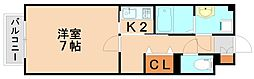 第2シャルマン[1階]の間取り