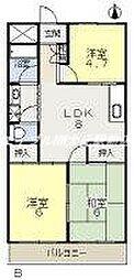 アヴェニュー奥田[5階]の間取り