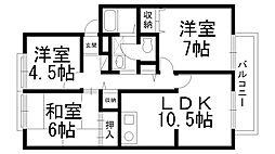 サンビレッジ東神田C[C0201号室]の間取り