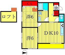 カイチ[2階]の間取り