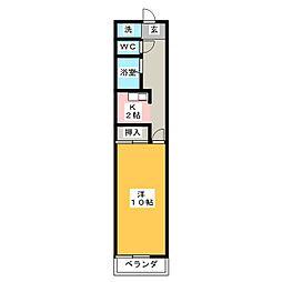 メゾン・ド・オ−シマ1[1階]の間取り