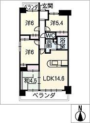 アベニュー木田 401号室[4階]の間取り