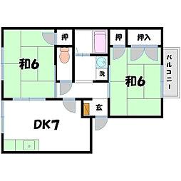 フローラルヤマセ[2階]の間取り