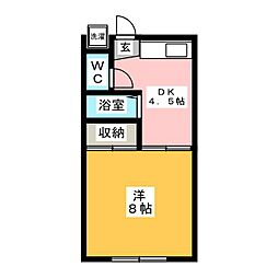 サンワード小泉No.10 1階1DKの間取り
