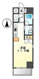 クレグラン東別院(CREGLANZ東別院)[7階]の間取り