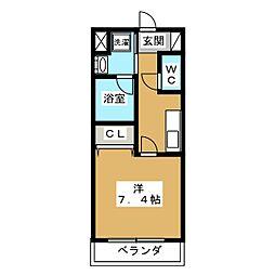 ベラジオ京都壬生 イーストゲート[1階]の間取り