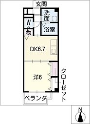 センチュリーパーク新川1番館[4階]の間取り