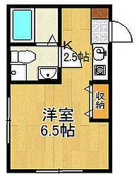 ミラクレスト戸塚[1階]の間取り