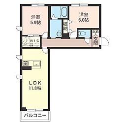 仮称 加須市睦町2丁目シャーメゾン[1階]の間取り