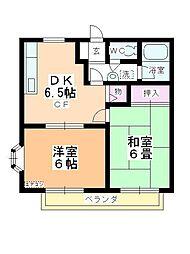 ベルメゾンITO B棟[103号室]の間取り
