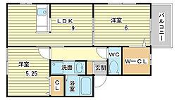 ソレイユ(神岡町)[102号室]の間取り