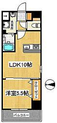 at east(エーティーイースト) 5階1LDKの間取り