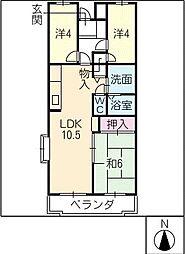 クレール弐番館[3階]の間取り
