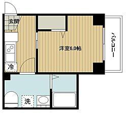 東急東横線 妙蓮寺駅 徒歩11分の賃貸マンション 5階1Kの間取り