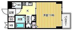 大阪府大阪市福島区鷺洲1丁目の賃貸マンションの間取り