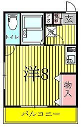 奥富マンション2[2階]の間取り