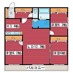 仮)西岡2-2MS[2階]の間取り
