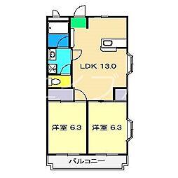 ガーデンハイツ永野III[1階]の間取り