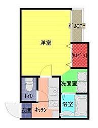 東武野田線 大和田駅 徒歩8分の賃貸アパート 1階1Kの間取り