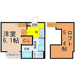(仮称)熱田区波寄町新築アパート[101号室]の間取り