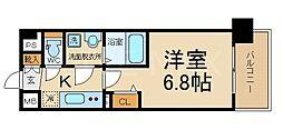 THE GARNET MILLENNIUM KYOTO 九条 2階1Kの間取り