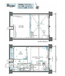 JR山手線 田町駅 徒歩11分の賃貸マンション 11階1LDKの間取り