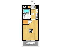 石井ビル[402号室]の間取り