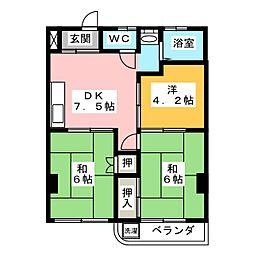 青木ビル[3階]の間取り