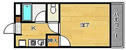 大阪府摂津市千里丘東2丁目の賃貸マンションの間取り