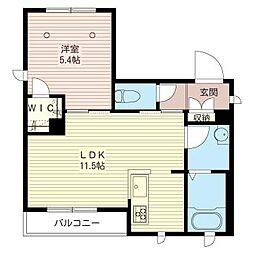 アルフラットK[3階]の間取り