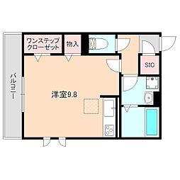 (仮)D-room中桜塚[3階]の間取り