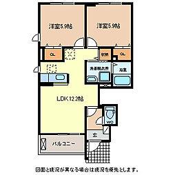 富夢想家 七番館[1階]の間取り