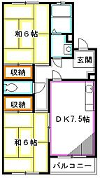 バームハイツ松尾[1階]の間取り