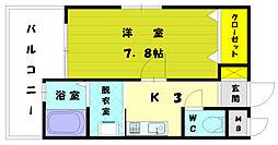 福岡県古賀市天神4丁目の賃貸マンションの間取り