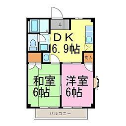 ドミール早川[2階]の間取り