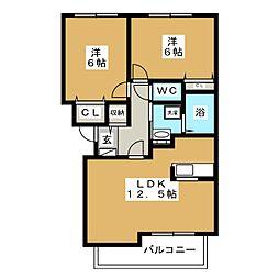 クレールドリュンヌ[2階]の間取り