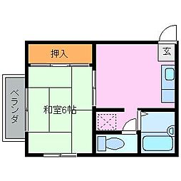 松相ハイツII[2階]の間取り