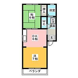 コーポYS2[2階]の間取り
