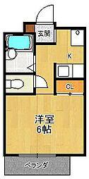 夙川ハイツAiOi[206号室]の間取り