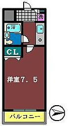 TWIN HOTARUNO 1・2[2103号室]の間取り
