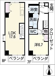 FELIZ GATO[8階]の間取り