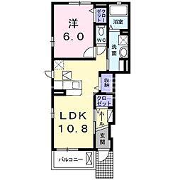 モンレーヴ3[1階]の間取り