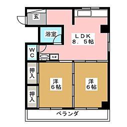 長盛堂ビル[2階]の間取り