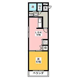 Andante19[5階]の間取り